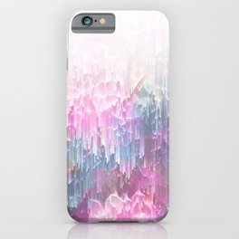 Magical Nature - Glitch Pink & Blue iPhone Case