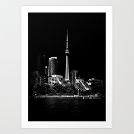 CN Tower From Bathurst Quay Toronto Canada Art Print