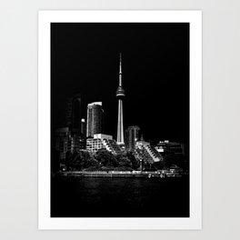 CN Tower From Bathurst Quay Toronto Canada Art Print