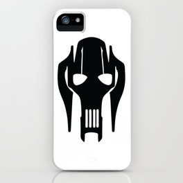 General Grievous Face Silhouette iPhone Case