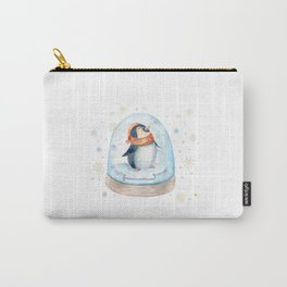 Penguin Snow globe Carry-All Pouch