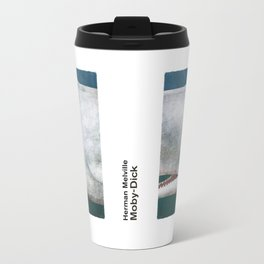 Herman Melville's Moby-Dick - Literary book cover design Travel Mug
