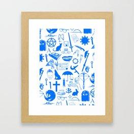 Buffy Symbology, Blue Framed Art Print