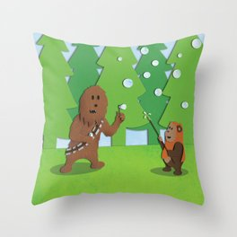 SW Kids - Chewie Bubbles Throw Pillow