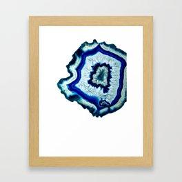 Inkdrop Agate slice Framed Art Print
