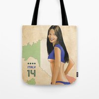 italy Tote Bags featuring Italy by Kingdom Of Calm - Original Art & Illustr