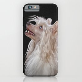 Drawing, illustration Chinese crested dog iPhone Case
