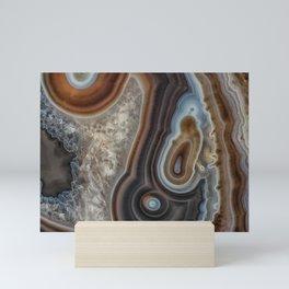 Mocha swirl Agate Mini Art Print