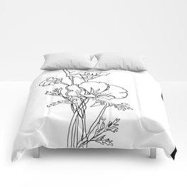 California Poppy Comforters