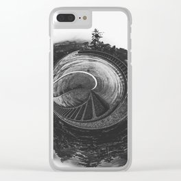 forest and the bridge Clear iPhone Case