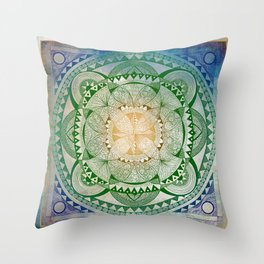 Metta Mandala, Loving Kindness Meditation Throw Pillow