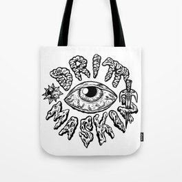 Drittmaskin - Crazy Eye & Weapons Tote Bag