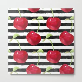Cherry pattern Metal Print