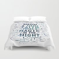 springsteen Duvet Covers featuring Magic In The Night by IndigoEleven