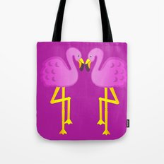 Double Flamingo Love Tote Bag