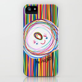 Be Happy | Smile | Stay Child | Kids Painting iPhone Case