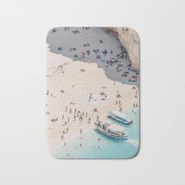 to the beach Bath Mat