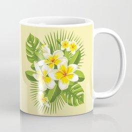 Tropical Bouquet. Plumeria Coffee Mug