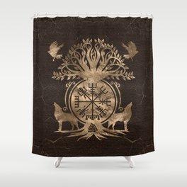 Vegvisir - Viking Compass Ornament Shower Curtain