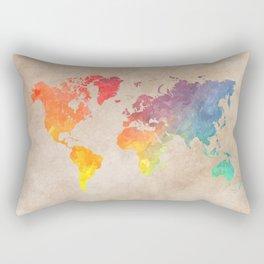 World Map Maps #map #maps #world Rectangular Pillow