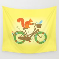bicycles Wall Tapestries featuring Natural Cycles by aWharton