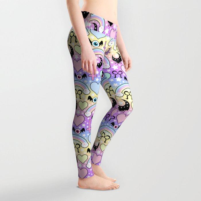 Pastel Goth Collage Leggings