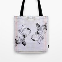 my mad fat diary Tote Bags featuring fat cat by vasodelirium