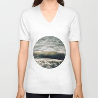 waves V-neck T-shirts featuring Waves by josemanuelerre