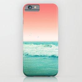 Aqua and Coral, 2 iPhone Case