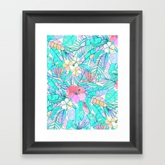 Pretty Pastel Hawaiian Hibiscus Print Framed Art Print