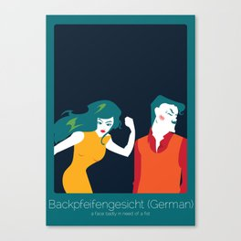 Found In Translation - Backpfeifengesicht Canvas Print