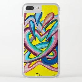 Formas en el espacio 4 Clear iPhone Case