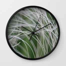 Rainforest Palm Tree Leaf Close Up  Wall Clock