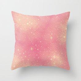 Rose Gold Galaxy Throw Pillow