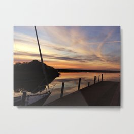 The dock at sunset Metal Print