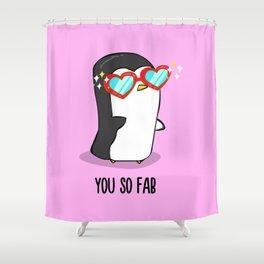 Fabulous Penguin Shower Curtain