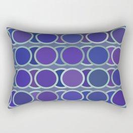circle blue 5 Rectangular Pillow