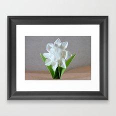 Origami Daisy Framed Art Print