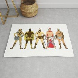 5 Gladiators and Warriors Rug