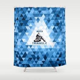 Blue Bjj Triangle choke. Jiu-jitsu grappling Shower Curtain
