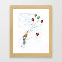 Balloonessa Framed Art Print