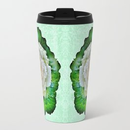 Beige Cabbage from the Garden Travel Mug