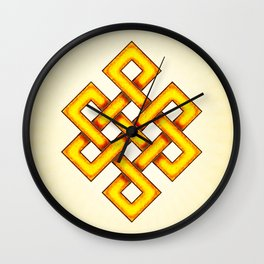 Endless Knot Yellow Wall Clock