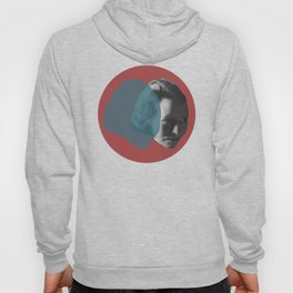 Edna St. Vincent Millay Portrait - red and blue Hoody
