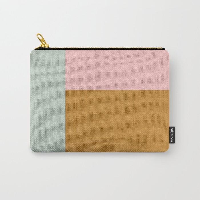 Geometric Color Block #4 Carry-All Pouch