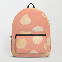 Sweet Life Polka Dots Peach Coral + Orange Sherbet Shimmer Backpack