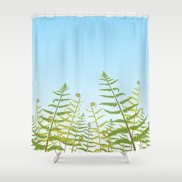 Fiddleheads and Fern Fronds Shower Curtain