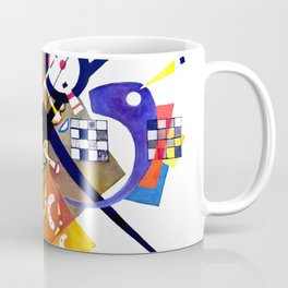 Kandinsky On White II (Auf Weiss) 1923 Artwork Reproduction, Design for Posters, Prints, Tshirts, Me Coffee Mug