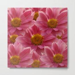 Pink Floral Bouquet Metal Print