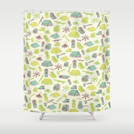 Retro Camping Shower Curtain